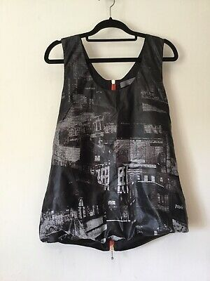 Alexander McQueen Silk Top McQ Rare Runway New York Night Line