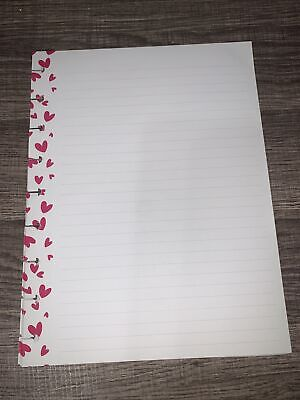 Happy Planner 20 Sheet Classic Filler Paper- Pink Hearts Dotted Lined