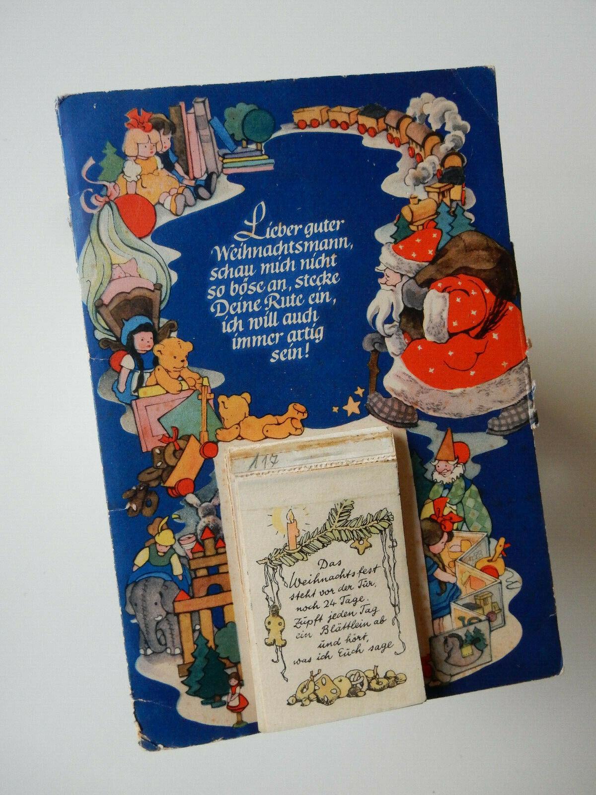 Alter Adventskalender LIEBER GUTER WEIHNACHTSMANN 1950 Herta Kliche