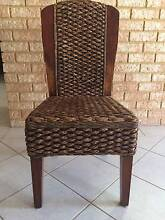 Water Hyacinth Wicker Dining Chairs Beeliar Cockburn Area Preview