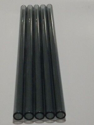 12 Inch Pyrex Transparent Black Glass Tubing 12mm Od 8mm Id 5 Tubes 2mm Wall