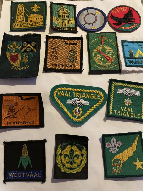 South Africa Lot of 14 Boy Scout Patches  Including Vaal Triangle,Northrand More