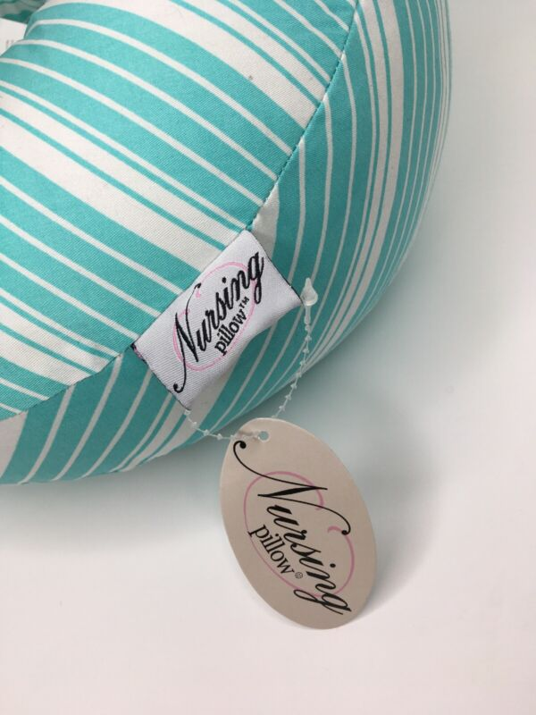 Nursing Pillow & Positioner for Baby Blue And White Stripe New With Tags