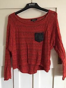 Cropped baggy orange jumper - Size M Coogee Eastern Suburbs Preview