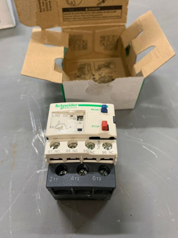 Schneider Electric Overload Relay TeSys 034678 LRD08 New