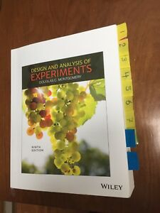 Montgomery design and analysis of experiments 9th