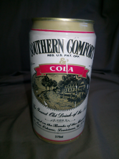 Early 1990s southern comfort and cola can
