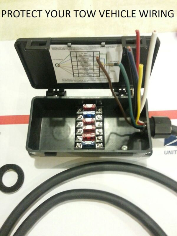 $_3 sealed fuse junction box for trailer & rv 4 way or 7 way light 7 pole fused junction box at nearapp.co