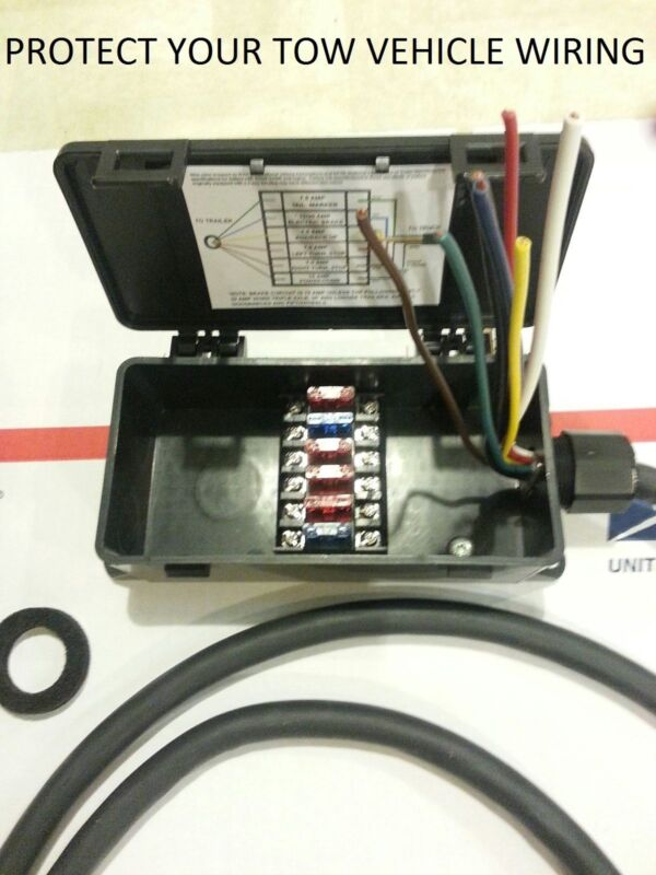 $_3 sealed fuse junction box for trailer & rv 4 way or 7 way light 7 pole fused junction box at reclaimingppi.co