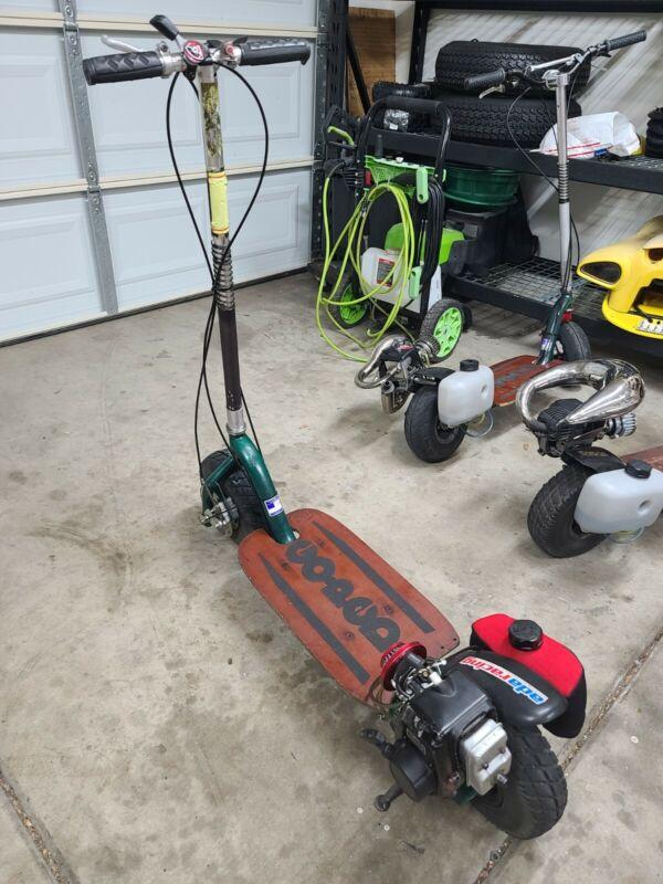 Go-Ped Og BigFoot California goped Gas Motor Scooter Tested Runs Restore/Repair