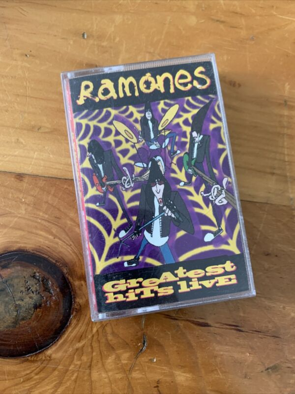 Ramones Greatest Hits Live Cassette tape Punk Rock Vintage NYC CBGB 1996