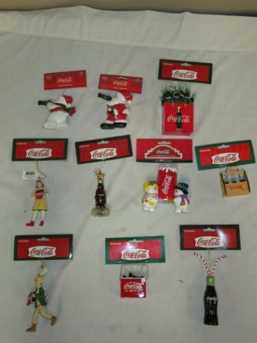 10 COCA COLA CHRISTMAS ORNAMENTS ALL NEW WITH TAGS