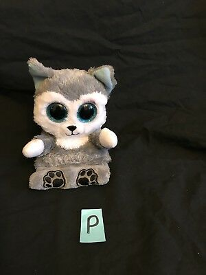 "Ty Beanie Babies Peek a Boos Scout Husky Dog Cellphone Holder 5"" for sale  Shipping to Canada"
