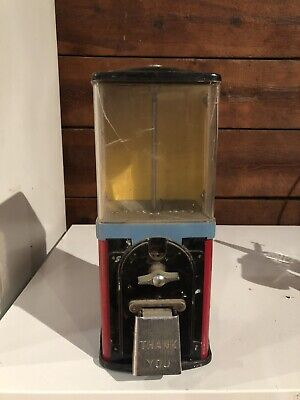 Antique Vintage Victor Half Cab6lb Glass Globe Gumball Candy Nut vending machine
