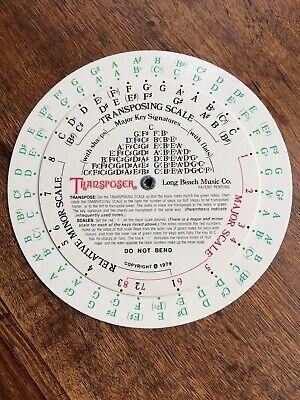 Transposer Long Beach Music Company Transposing Wheel 1979