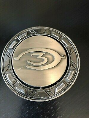 X Box Game Halo 3 Belt Buckle Microsoft 2007 It Spins 3 Backward C  for sale  Shipping to India