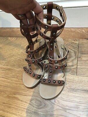 Isabel Marant Brown Sandals, Size Uk6, Net A Porter