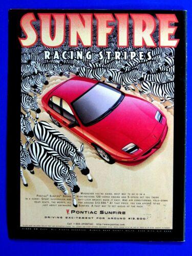 """ZEBRA AND 1997 Pontiac Sunfire Original Print Ad 8.5 x 10.5"""""""
