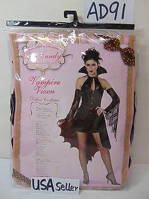 HALLOWEEN OUTFIT WOMENS ADULT LARGE 10-12 SEXY VAMPIRE VIXEN-CALIFORNIA COSTUMES