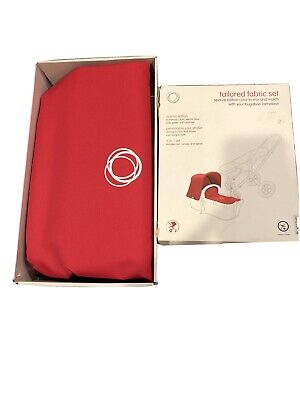 Bugaboo Stroller Baby Kid Cameleon Tailored Fabric Set, Coral Red New FREE SHIP