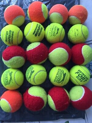20 Used Mixed Tennis Balls For Children/Dogs