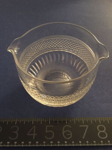 ANTIQUE 19th century IRISH? HAND CUT Crystal Wine Rinser MAGNIFICENT heavy piece
