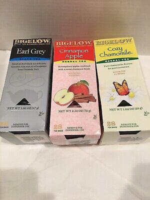 Bigelow Earl Grey Black Tea, Cinnamon Apple Herbal Tea & Cozy Chamomile Cozy Chamomile Herbal Tea