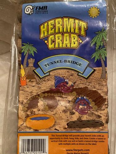 New FMR Hermie Hut Hermit Crab / Reptile Hideaway wood Tunnel Bridge Hide Out