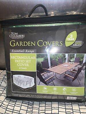 Tom Chambers Essentials Range Rectangular Patio Set Cover 8 Seats