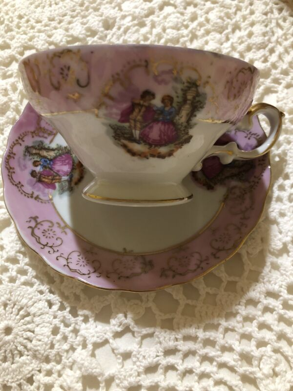 Rachel Ashwell Shabby Chic Couture Pink Tea Cup With Saucer