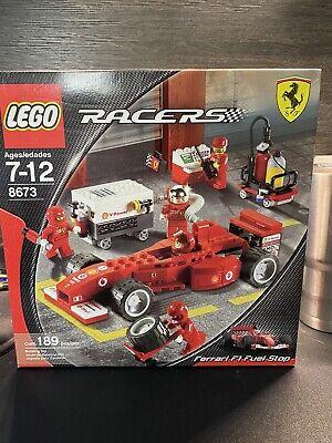 Lego 8673 LEGO Racers Ferrari F1 Fuel Stop NIB *RARE*