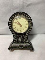 Classic Antiqued Quartz Mantel Clock Decorative Table Home Decor I2