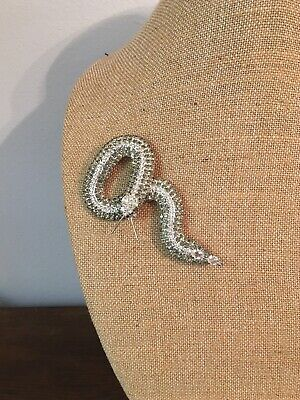 Dark And Clear Rhinestones Snake Brooch Pin, KJL, Kenneth Jay Lane Kenneth Jay Lane Snake