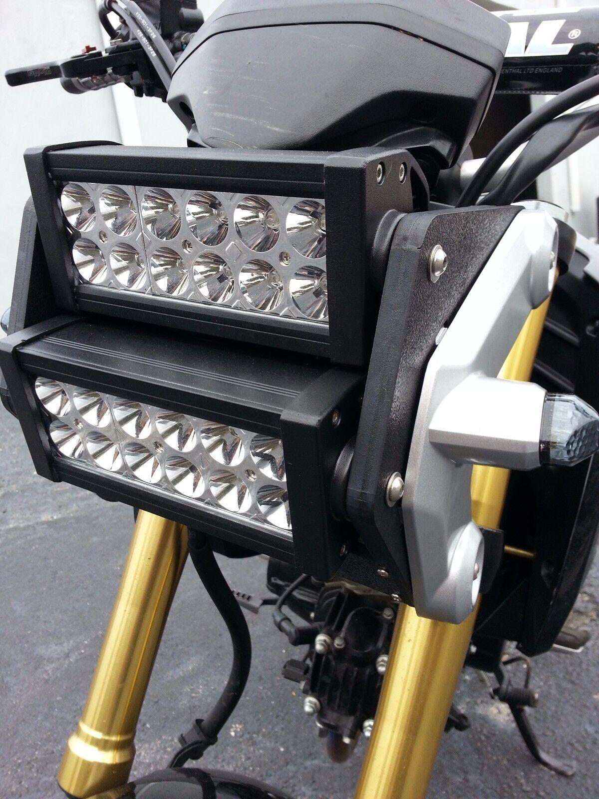 For Honda Grom MSX125 Double LED Light Bar Headlight ...