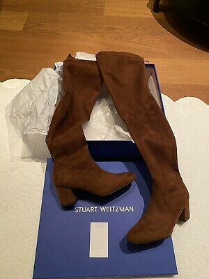 Stuart Weitzman Coffee Brown Thigh High Over The Knee Boots UK 4.5...