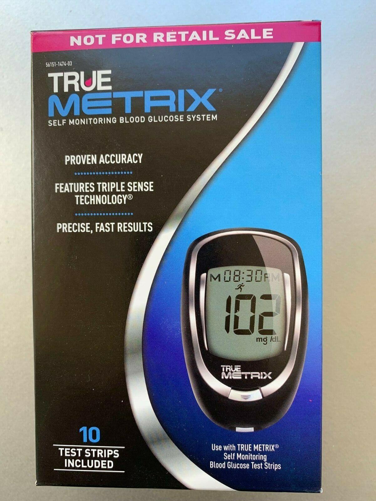 True Metrix Blood Glucose METER plus Strips plus lancets plu
