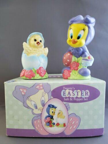 TWEETY BIRD & CHICK Easter Salt & Pepper Shakers Original Box Warner Brothers WB