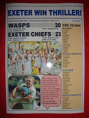 Wasps 20 Exeter Chiefs 23 - 2017 Aviva Premiership final - souvenir print