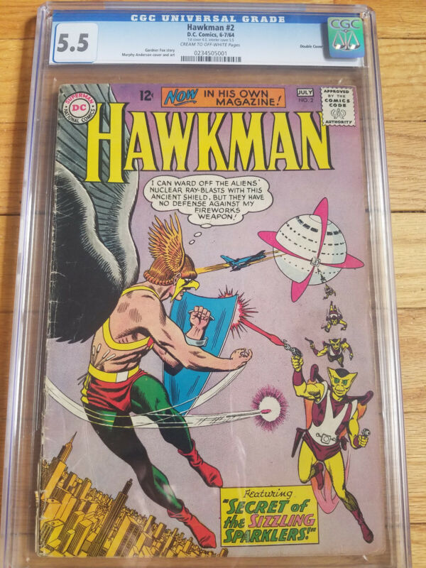 Hawkman 2 CGC 5.5 Double Cover