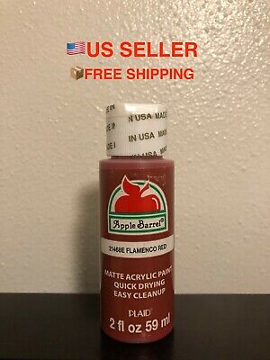 1x Apple Barrel Acrylic Crafting Paint Color: FLAMENCO RED - FREE SHIPPING!