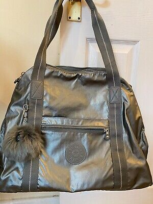 NEW Kipling Bag Art M Travel Tote Bag Holdall Metallic Silver From  Dubai