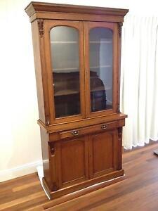 Antique Oak Victorian Bookcase Paddington Brisbane North West Preview