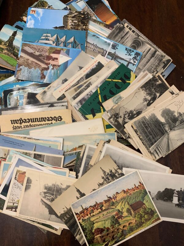Lot of 50 Antique & Vintage Postcards,1900s-1970s. All USA. Used And Unused !!