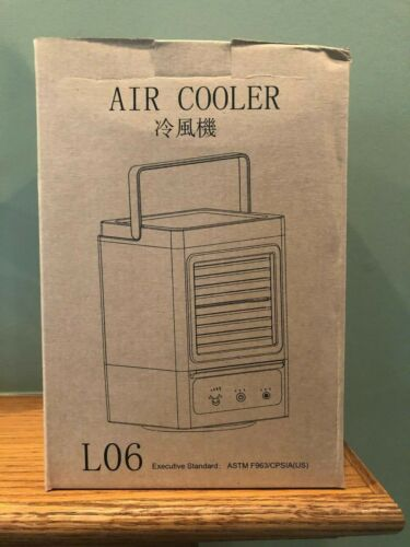 L06 Air Cooler Battery Operated Personal Air Conditioner USB Rechargable