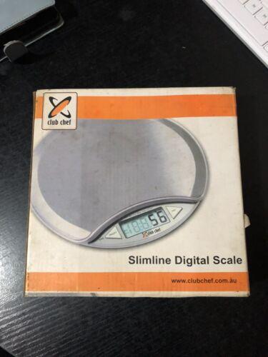 Slimline Digital Stainless Steel Kitchen Scales
