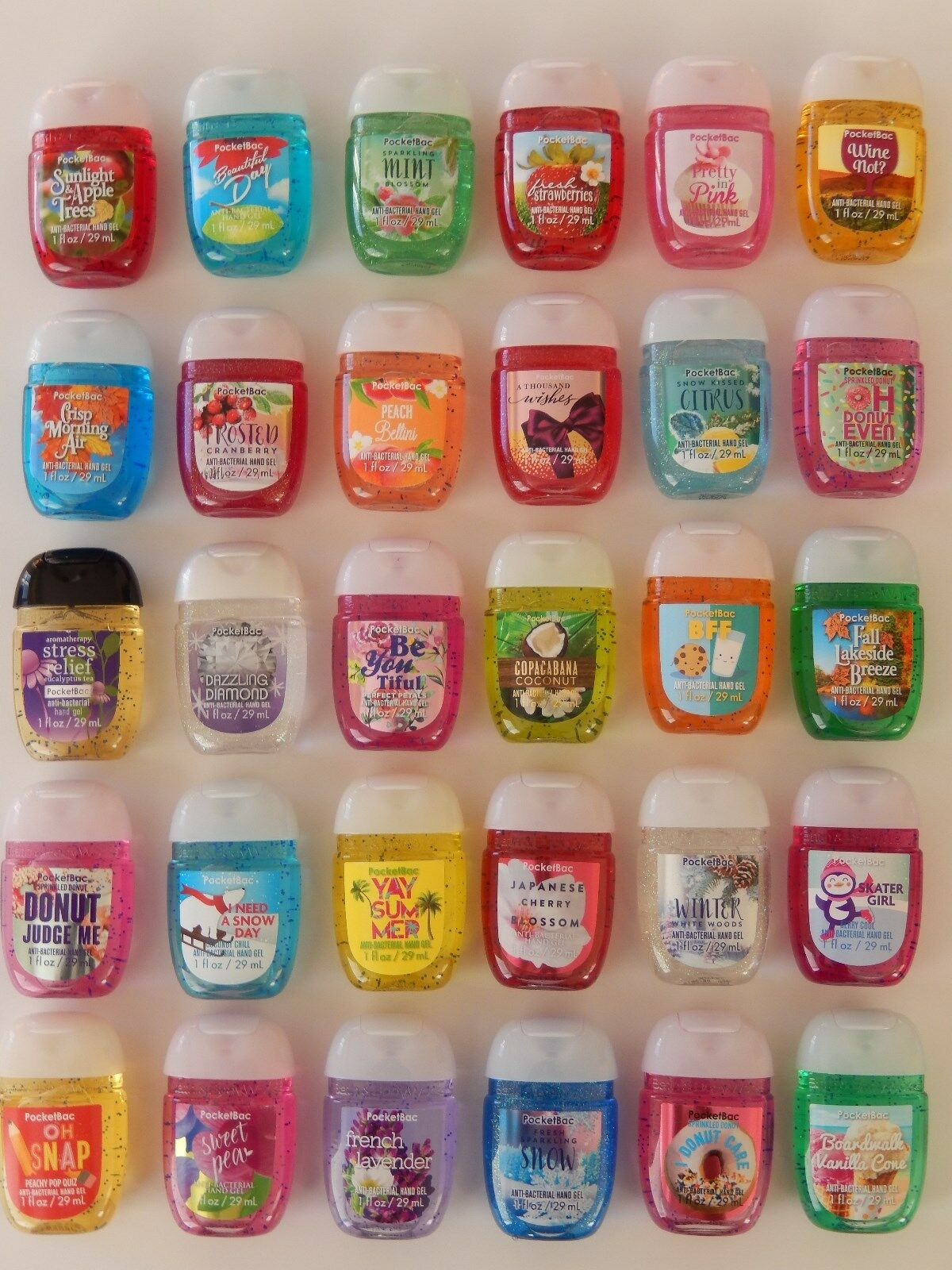 BATH AND BODY WORKS POCKETBAC HAND SANITIZER ANTI-BACTERIAL GEL 29ml NEW SCENTS