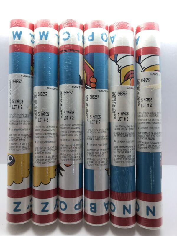 "6 Vintage Rolls of Wallpaper Border ""Sesame Street"""