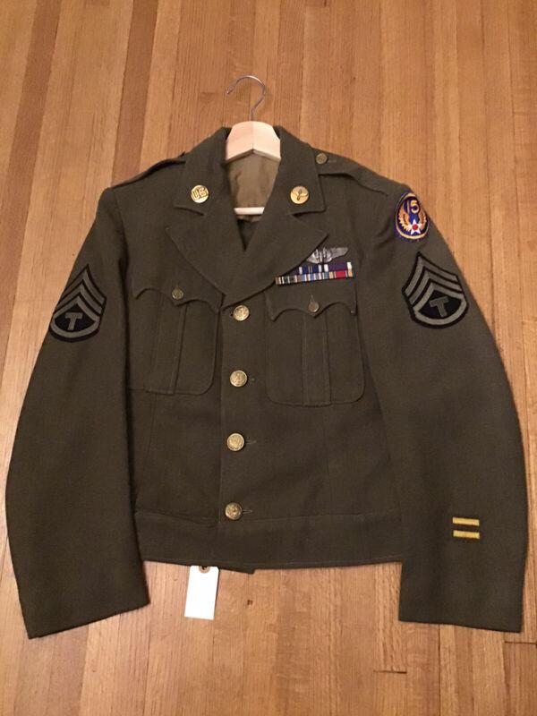 Amazing Custom Tailored 15th Air Force Ike Jacket Sterling Aerial Gunner