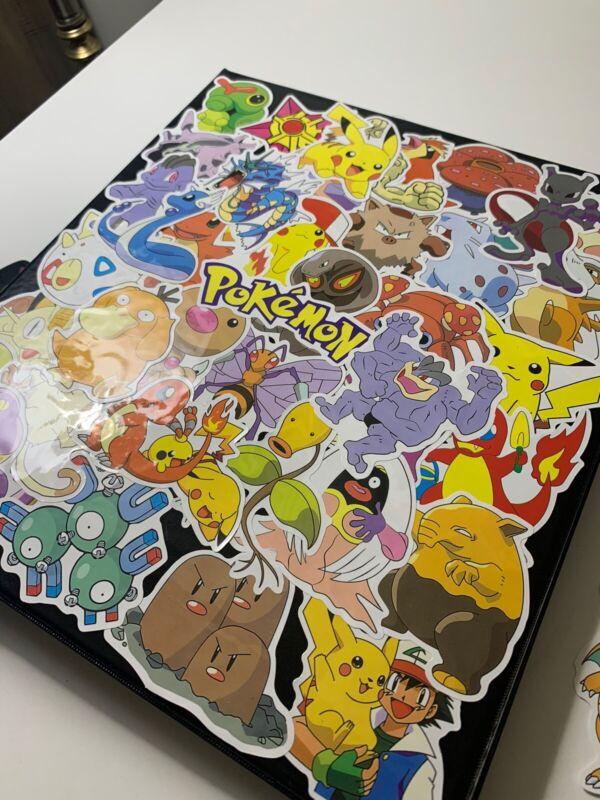 80 Piece Cartoon Character Pokemon Stickers Pack