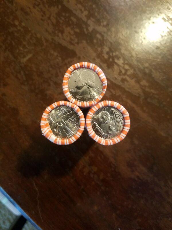 2020 W American Samoa ENDER v75 Privy Mark in Weir Quarter Roll 40 coins BU